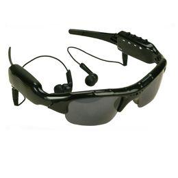 Lunettes de soleil pour écouteurs en Ligne-ET sans fil Bluetooth caméra lunettes de soleil soutien TF mains libres HD Sport DV enregistreur vidéo Smart Eyewear caméscope avec des écouteurs