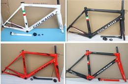 Wholesale Carbon Road Frames Colnago - 2018 new color 700C road bike c60 Colnago 3K T1000, BLACK white  red  green GLOSSY Carbon road bike, road bike frame