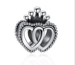 Canada Convient Pandora Bracelets 30pcs Reine Couronne Coeur Argent Perle De Charme Perles Lâches Pour Vente En Gros Diy Collier Sterling Européen Bijoux De Noël Offre