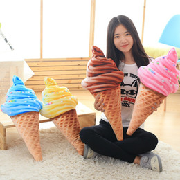 Peluche de glace en Ligne-Creative Ice Cream Pillow Sofa Decor Coussins Multi Color Plush 3D Coussin Arrière 6as C R