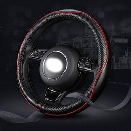 2019 volantes vw passat 38 cm Cuero Car Styling Cubierta del volante para Mazda 3 2 Mazda 6 Axela CX-5 CX5 CX-7 CX7 CX-9 RX8 2014 2015 2016 Accesorios para automóviles