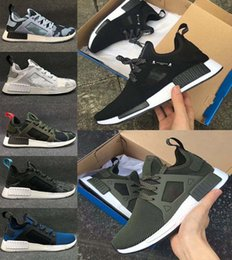 Wholesale Brown School Shoes - New color NMD xr1 x Running Shoes Mastermind Japan Skull Fall Olive Camo Glitch Black White Blue zebra school foot wear young