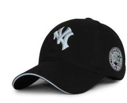 Visera parasol blanco online-Gorra de béisbol Letra del bordado Sombreros para el sol Sombrero de baile ajustable de Hip Hop Verano al aire libre Hombres Mujeres Blanco Negro Azul marino Visera. Envío gratis