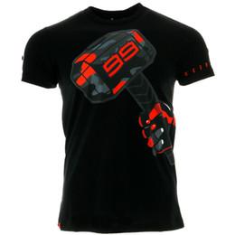 2019 motogp t shirts 2018 nuova maglietta Jorge Lorenzo 99 Motogp Hammer Motorsports da uomo estiva nera Jersey sconti motogp t shirts