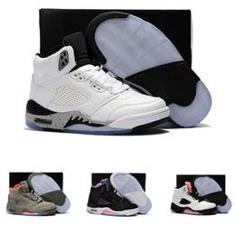 100% authentic c8123 3d6e3 2018 Nike air Jordan 5 11 12 retro Billig Verkauf Kinder V 5 Kinder Casual  Luxus Schuhe für hohe Qualität 5 s Kid Schwarz Weiß Rot Blau Designer  Sneakers ...