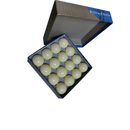 piscina blu colore Sconti Biliardo palla set in Blue Box 3A Pool Table Cue Ball, colore bianco 16 pezzi Cue Ball