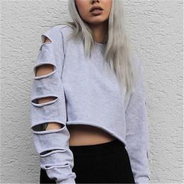 Wholesale Womens Long Hoodies - Autumn New Womens Casual Long Sleeve Crop Top Hoodie Sweatshirt Jumper Pullover Tops