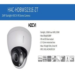 Wholesale Wired Cctv Dome Cameras - Free Shipping DAHUA CCTV Security Camera 2MP Full HD Starlight HDCVI IR Dome Camera IP67 IK10 without Logo HAC-HDBW3231E-ZT