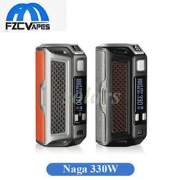 Wholesale Mega Batteries - 100% Original Rofvape Naga 330W Box Mod Triple 18650 Battery E Cigarette Vape Mods 316SS Material Mega Mod