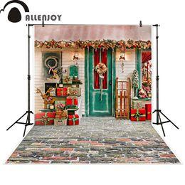 Wholesale christmas scenic backdrops - Allenjoy photography backdrop Christmas gift house celebrate background photocall photographic photo studio photobooth