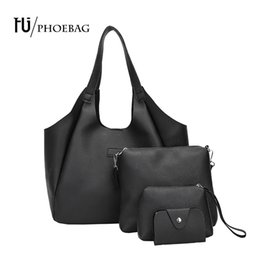Wholesale large brown hobo - HJPHOEBAG Fashion Women Large Capacity Bags Casual Tote bags solid Design PU Leather Handbags Bolsas high quality bag HJ-848