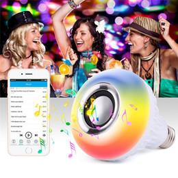 2019 beste drahtlose lautsprecher für musik LED Musik Birne Bluetooth drahtloser Lautsprecher beleuchtet Lampe intelligente Birnen RGB Bunte Lautsprecher mit Fernbedienung für iphone x Smartphone am besten günstig beste drahtlose lautsprecher für musik