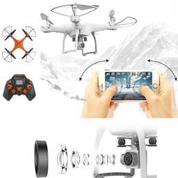 Wholesale Gyro Gopro - Aerial Photography RC Drone Wifi with HD Camera 4-Axis Gyro One Key Return Drone Mobile Phone Control Toy