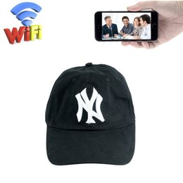 2019 tapas de video 32 GB 1080 P Wifi Hat Cámara HD Gorra de Béisbol Niñera Cam Cámara Inalámbrica IP Portátil Grabador de Video Vigilancia de Seguridad DVR Mini DV tapas de video baratos
