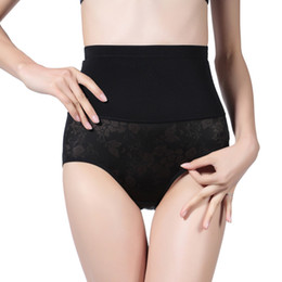 Wholesale Black Spandex Panties - Spring Summer Abdominal Trousers After The Abdomen Pants Lift Hip Underwear Froal Seamless Body Shaper Pants
