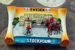 Wholesale Tourist Souvenir Gift - Sweden Stockholm Tourist Travel Souvenir 3D Resin Decorative Refrigerator Magnet Craft GIFT IDEA