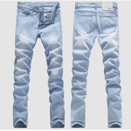 fe3178ac78227 2018 Nouveau Jeans Stretch Sky Blue pour Homme 28 29 30 31 32 33 34 36  Pantalon Homme Décontracté jeans bleu ciel pas cher