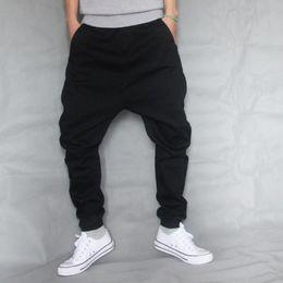 Hip Hop Baggy Denim Squirrel pantolon Erkek Düşük Kasık Kaykay kot Erkek Gevşek Harem Jogger Pantolon Siyah Streç Pantolon A60508 nereden