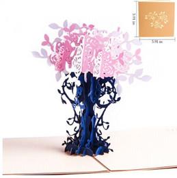 Canada Cartes de remerciement Cartes postales avec enveloppes 3D pop up Papier découpé anniversaire Carte de voeux Fête des mères cadeau pour amoureux Pot de fleurs Offre