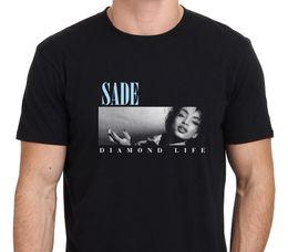 SADE Diamond Life Herren Black T-Shirt Größe: S-XXL Herren T-Shirt Billig Verkauf 100% Baumwolle O-Neck T-Shirt von Fabrikanten