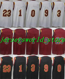 Wholesale Derrick Green - CQ*15-Top thailand quality #23 LeBron James #3 Isaiah Thomas #1 Derrick Rose #0 Kevin Love 2017-18 New Style Basketball Stitched Jersey