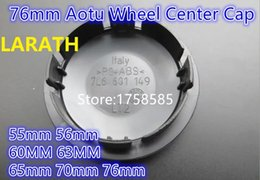 Wholesale Passat Wheel Center Cap - Car Styling 20pcs 55mm 56mm 60MM 63MM 65mm 70mm 76mm Car Wheel Center Cap Hub Cap Cover 7M7601165 For Passat Jetta Logo Badge Emblems