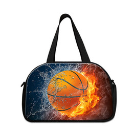 Wholesale Basketball Weights - Best Journey Bags for Men Shoulder Duffel Bag for Travelling Trendy Light Weight Luggage Bags with Shoes Pocket Coolest Basketball Patterns