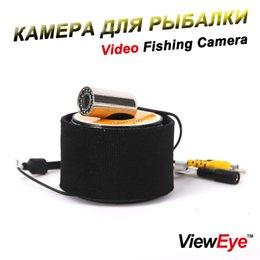Wholesale underwater fish cameras - ViewEye VWE-SS01 Series Underwater Fishing Camera Fish Finder 12PCS White Bright LED or Infrared Lamp IR LED Stainless Steel