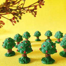 Commercio all'ingrosso 10 Pz / mini alberi / fairy garden gnome / moss terrario home decor / artigianato / bonsai / bottiglia giardino / miniatura / home decor da alberi di bonsai miniatura all'ingrosso fornitori