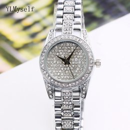 Каменные часы для женщин онлайн-Full crystal ladies stone band watches high quality fast shipping nice elegant fashion quartz 2018 women watches