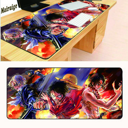 Wholesale One Lock Keys - One Piece cartoon cartoon high-quality rubber non-slip computer office mouse pad key game pad mat black precision lock