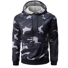 Wholesale Blouse Sleeve Shirt For Men - Fashion Men's Long Sleeve Camouflage Hooded Sweatshirt Casual Male Shirt Tops Blouse For Men Drop Shipping