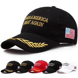 Wholesale america gift - Make America Great Again HatCap Donald Trump Republican Baseball Cap Christmas Gift Adjustable Baseball Cap EEA67