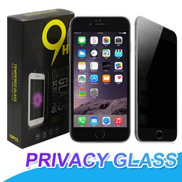 Wholesale glare shield - For iPhone X 8 Privacy Tempered Glass For S7 iPhone 6 7 Plus Screen Protector Anti-Spy Film Screen Guard Cover Shield For Samsung J3 J7