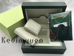 Wholesale Gift Boxes Free Shipping - Free Shipping Green Brand Watch Original Box Papers Card Purse Gift Boxes Handbag 185mm*134mm*84mm 0.7KG For 116610 116660 116710 Watches