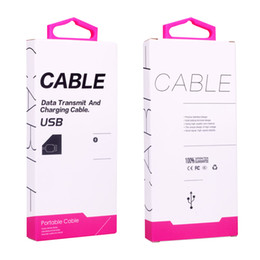 Wholesale Custom Usb Cables - Paper Packaging Box Packing with Inserts For Micro USB Cable for Xiaomi Package Boxes Data Line Cables charger Custom Made