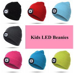 e818b1710d6 7 Colors LED Light Warm Hat Battery Type Winter Beanies Fishing Camping Cap  Knitted Hat Camping Outdoor Crochet Hat CCA10459 30pcs