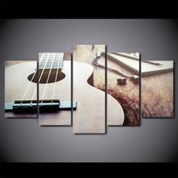 2019 moderne klassische gitarre HD Gedruckt 5 Stück Leinwand Kunst Klassische Gitarre Malerei Gerahmte Große Wandbilder für Wohnzimmer Moderne Kostenloser Versand CU-2423C günstig moderne klassische gitarre
