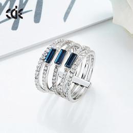 anel de swarovski de prata esterlina 925 Desconto O novo anel de prata esterlina SWAROVSKI Crystal 925.