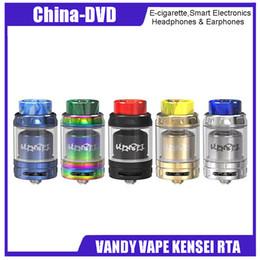 Atomizador de pedidos online-Atomizador original Vandy Vape Kensei 24 RTA Pre pedido 2ml a Bubble glass 4ml Tank para E Cigarette Box Vape Mod Vaporizador Kit