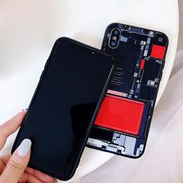 Custodia per batteria online-2018 nuovo marchio di moda per ip xxs copertura della cassa del telefono cellulare vetro shell 8plus protettiva disegno della batteria posteriore 50 pz