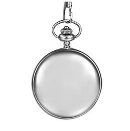 Классический гладкий Vintage Mens карманный подарок Xmas Gift (серебро) от
