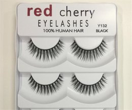 Wholesale Big False Eye Lashes - Brand New Red Cherry False eyelashes 5 pairs pack 8 Styles Natural Long Professional makeup Big eyes High Quality