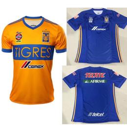 Wholesale H Shirts - 2018 19 Tigres UANL soccer jerseys 6 Stars Home and away man football shirts 2019 GIGNAC Vargas H. Ayala SOSA Mexico blue football Shirt