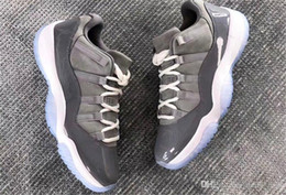 Wholesale Fibre Carbon - Originals 11 Cool Grey Low Real Carbon Fibre Man Basketball Shoes Authentic Sports Sneakers With Original Box 528895-003