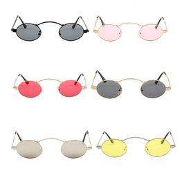 0afe079e678 Unisex Small Circle Sun Glasses Men Women Round Metal Frame Shades Eyewear  Resin Lens Holiday Sunglasses