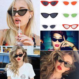 Wholesale waterproof matches wholesale - 26 Colors Cat Eye Sunglasses Women Fashion Goggles Cute Sexy Eyeglasses Outdoor Vintage All-match Eyewear LJJA24