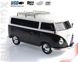 alto-falante bluetooth hy Desconto New Bus WS-266BT Colorido bluetooth mini alto-falante em forma de carro mini bus sem fio caixa de som falante dos desenhos animados MP3 + U disco + TF + FM função + bluetooth