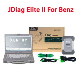 Wholesale Mb Star C4 Laptop - Wirelss JDiag Elite II Pro With CF53 Laptop For Mercedes Benz Diagnostic Tool DAS Xentry Replace MB Star Diagnostic C4 SD Connect Compact4