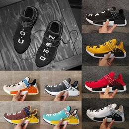 Wholesale Racing Sneakers - Wholesale NMD NERD Human Race Hu trail Running Shoes Men Women Pharrell Williams NMD Yellow noble ink core Black Runner Boost Sneaker Shoes